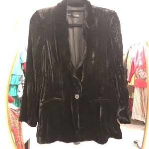Zara Crushed Velvet Jacket